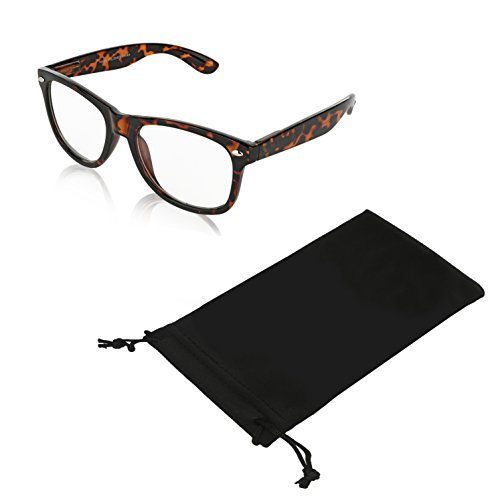 SunnyPro Fashion Vintage Glasses Large Sunglasses for Women Clear (Brown - Large Style Wayfarer Sunglasses