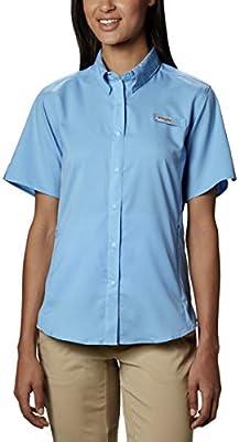 Columbia Sportswear Tamiami II Camisa de Manga Corta para Mujer Talla Grande, Mujer, 1275712, Gorra Blanca, 1 Unidad: Amazon.es: Deportes y aire libre