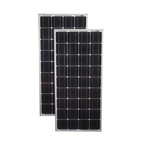 200 Watt Solar Panel Mono 2pc 100W Off Grid 12V RV Boat H...