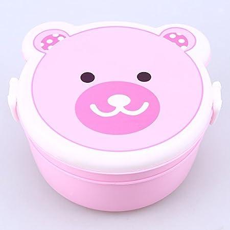 LASISZ Caja portátil Bento Kawaii Horno de plástico Caja de ...