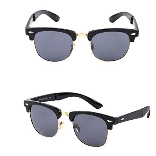 TOOPOOT Clearance Deals Glasses, Man Summer Travel Glasses Outdoors Retro Folded Sunglasses - Glasses Deals Designer