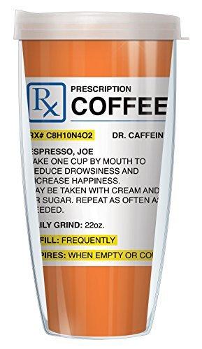 Mocha Vodka Cafe (Coffee Prescription 22oz Mug Tumbler Cup with Clear Lid)
