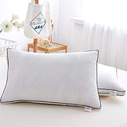 XZDXR Oreiller oreiller textile à la maison bilatéral stéréo oreiller étoiles star hôtel plume velours oreiller paire (2) 48 * 74CM