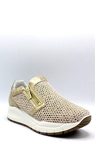 amp;Co Scarpa con Italy Sneaker In 11566 Platinum Platino Memory cerniere Foam IGI Made Pelle Donna dqtYdw