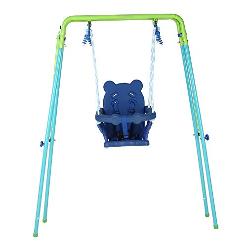 Bokze Toddler Swing Set Outdoor Indoor Folding A-Frame Swing Set with Secure Toddler Swing Seat, First Toddler Swing, Baby Kids First Gift (Shipping from USA)