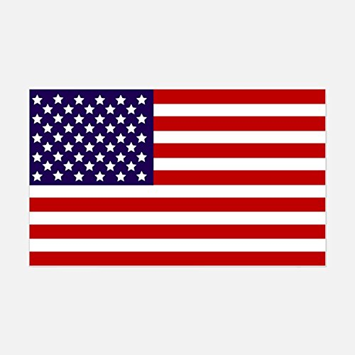 American Flag Vinyl Decals Stickers(THREE PACK!!!)|Car Truck Van Wall Laptop|FULL COLOR|3-5 X 3 In Decals|KCD704