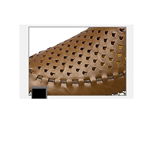 Avec Slippery des La Décontractées Creuses Hommes Chaussures Vache Femelle zmlsc Affaires Sharp Hugh Chaussures Skyblue Cool qF6TE8