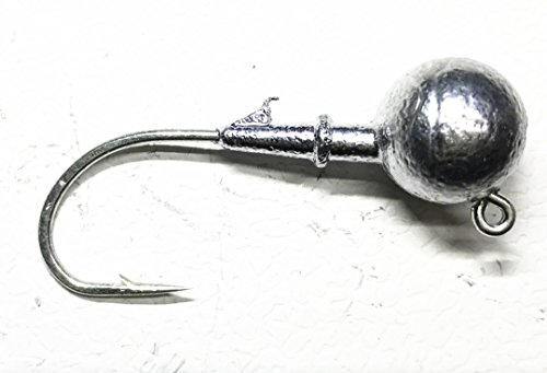 Jig Oz 1 - Kathy store INC 10 Pcs Jig Ball Hook, Jig Head Fishing Hooks Lures Bait (Lure Raw, 1 ounce -10 Pcs)