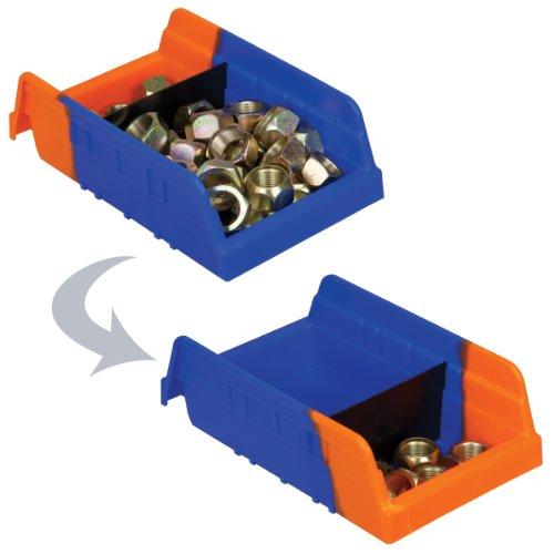 akro-mils-36462blkred-indicator-inventory-control-double-hopper-shelf-bin-11-58-inch-l-x-6-34-inch-w-x-4-inch-h-blackred-12-pack