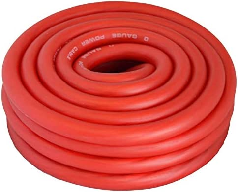 New 10 ft  Red 1//0 Gauge Amplifier Power Ground Wire 10 Feet 0 GA Amp Cable Roll