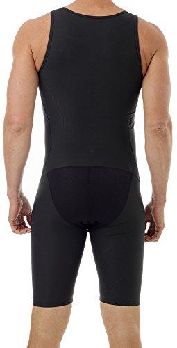 Underworks Mens Compression Bodysuit Girdle - 3-Pack - No Rear Zipper 2X Black by Underworks (Image #1)