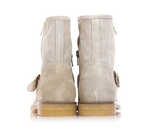 LIU JO - Beige Stiefeletten aus Wildleder, seitlich ein Reißverschluss, Mädchen-40