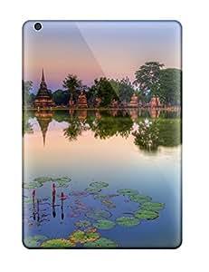 lintao diy Durable Defender Case For Ipad Air Tpu Cover(sukhothai Historical Park Thailand)