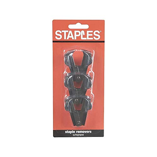 - staples Claw Staple Remover, 3 Pack