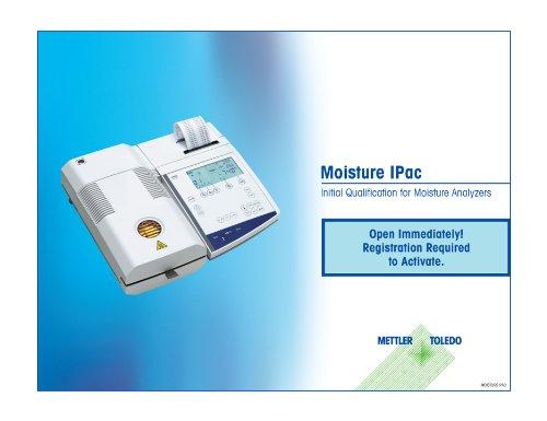 Mettler Toledo MOISTUREPAC Moisture Service Package with 12 Month Extended Warranty