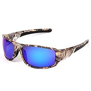 Sun Glasses Camouflage Polarized Frames Sun Glasses 100% UV400 Protection Arnett,03BLUE