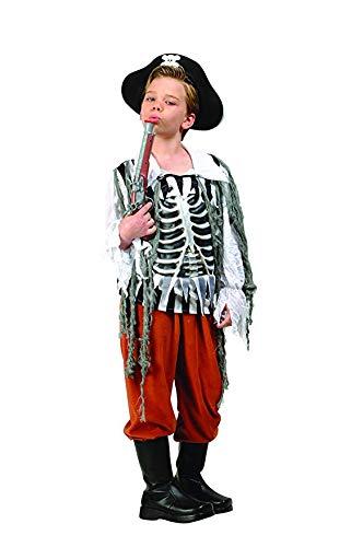 RG Costumes Skull Pirate Costume, Black/Rust/White, ()