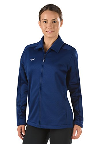 Speedo 7201482 Women's Streamline Warm Up Jacket, Navy - (Speedo Warm Ups)