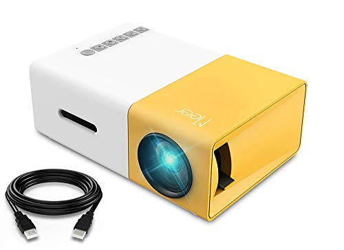 Mini Projector, Meer Portable Pico Full Color LED LCD Video Projector for Children Present, Video TV Movie, Party Game…