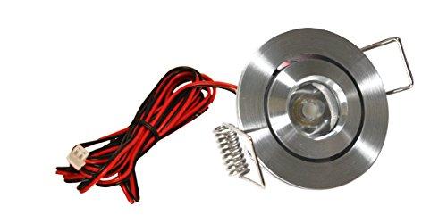 American Lighting LMS-AL LED Mini Swivel Puck Light, 1.25-Watts, 3000K Bright White, Dimmable, Satin Aluminum ()