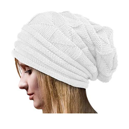 Chicago Bulls Watch Online - iYBUIA 2018 Winter Women Crochet Hat Wool Knit Beanie Warm Caps(White,One Size)