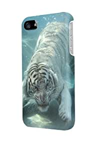 ip50336 White Tiger Underwater Glossy Case Cover For Iphone 5/5S