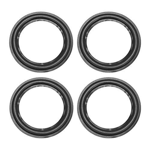 uxcell 5.5 inches 5.5 inch Speaker Foam Edge Surround Ring Replacement Parts for Speaker Repair or DIY 4pcs