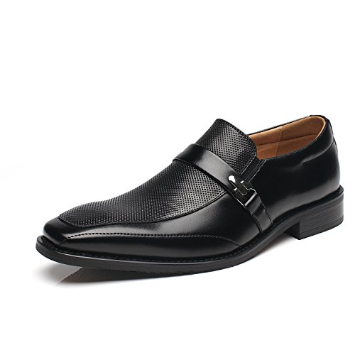 NXT NEW YORK Mens Slip On Buckle Loafer Moc Toe Oxford Shoes Comfortable Classic Formal Business Shoes ()