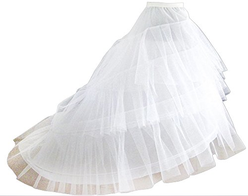 VIVIANSBRIDAL Women's Crinoline Bridal Petticoats for Wedding Dress, A White (Plus Size White Tulle Petticoat)