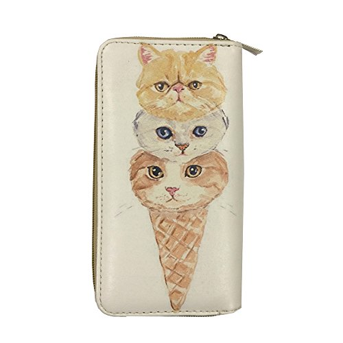 Price comparison product image Pet Togo - Digital Print (Double Face) Single Zipper Wallet - Kitten: IceCream Brother