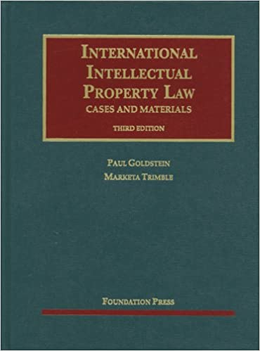International Intellectual Property Law, Cases and Materials