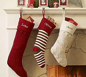 Amazon Com Pottery Barn Kids Alpine Knit Santa Stocking