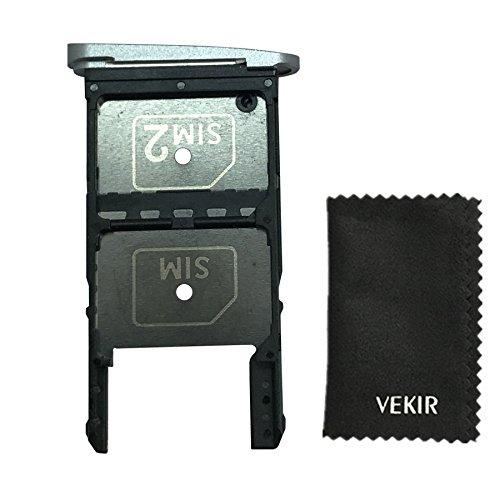 VEKIR Dual Sim Card Slot Replacement for Moto Z Play Droid XT1635-01 XT1635-02(Silver)