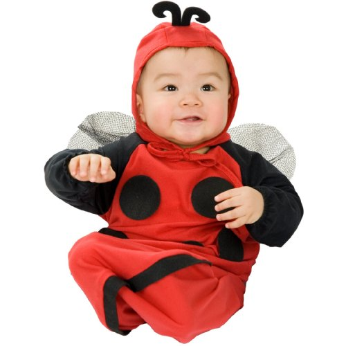 Ladybug Bunting (Lady Bug Bunting Costume, Newborn (0-6 Months), Black)