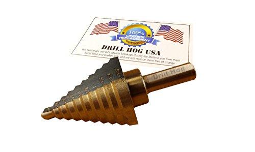 """Drill Hog Step Drill Bit 1/4""""-1-3/8"""" Molybdenum M7 USA"""