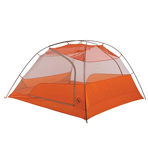Big Agnes Copper Spur HV UL4 Backpacking Tent, Grey/Orange, 4 Person