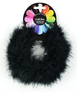 Touch of Nature 1-Piece Feather Marabou Craft Boa for Arts and Crafts, 1-Yard, Black