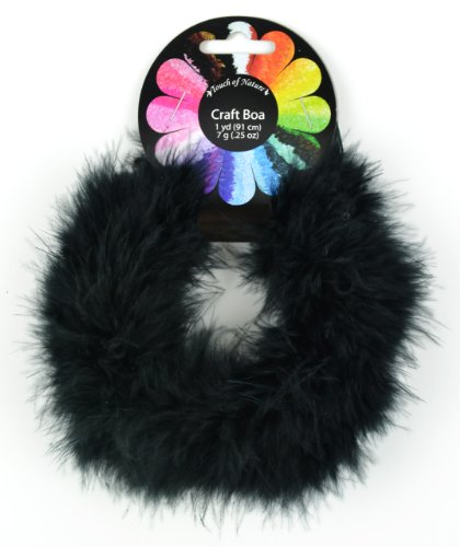 Touch of Nature 1-Piece Feather Marabou Craft Boa for Arts and Crafts, 1-Yard, -