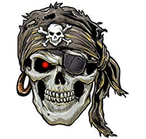 Vinilo Pegatina Adhesivo Calavera Pirata Coches, caravanas, Jeep, autocaravanas, Motos, Cascos, portatiles 15 x12 cm de CHPYHOME: Amazon.es: Coche y moto