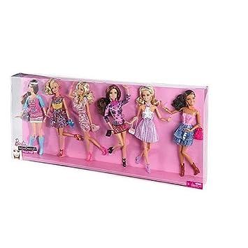 Barbie Fashionistas Coffret Cadeau 6 Poupées élégante à La