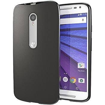 Moto X Pure Edition (Moto X Style) Case, Cimo [Matte] Premium Slim Fit Flexible TPU Cover for Motorola Moto X Style / Pure Edition - Black