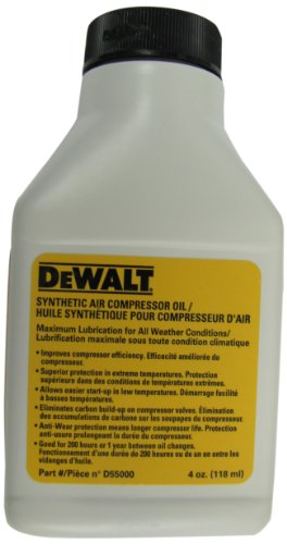 DEWALT D55000 Compressor Oil --Synthetic 4 oz
