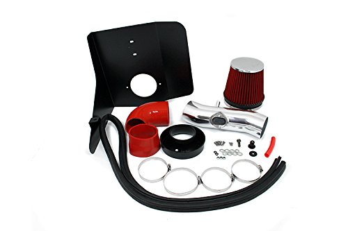 Velocity Concepts 3.5'' Red Heat Shield Cold Air Intake Kit + Filter For 2010-2011 Chevrolet Camaro 3.6L V6
