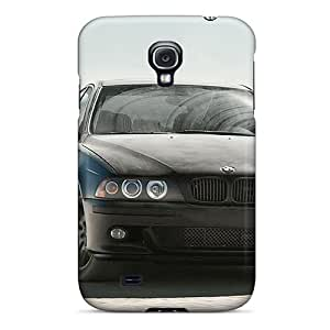 Fashionable Style Cases Covers Skin For Galaxy S4- Black Bmw In Desert