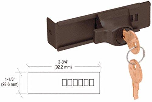 CRL Duranodic Bronze Stick-On Showcase Lock - Keyed Alike by CR - Duranodic Bronze