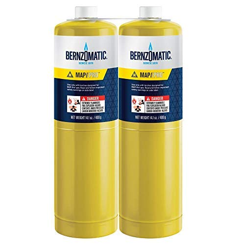 (2) 14.1 oz Bernzomatic Pre-Filled MAP-Pro Gas Torch Style Cylinder - Pack of 2 by Worthington Industries