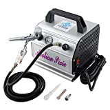 WST Pro Dual Action Airbrush Gravity Paint Kit Nail Tattoo Cake Compressor 110V,220V , 220v