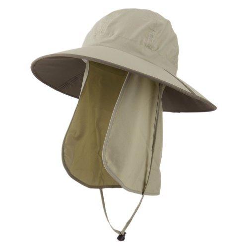 UV 50+ Talson Folding Large Brim Flap Hat - Khaki OSFM
