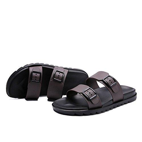 da New Marrone da Due Traspirante Pure shoes da 2018 Fondo uomo Trascina antiscivolo spiaggia British scarpe da Uomo indossare per Style Color Sandali Xujw Sandali Casual spiaggia morbido wtzpYY