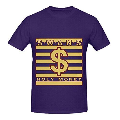 Swans Holy Money Electronica Men O Neck Customized Shirt Purple